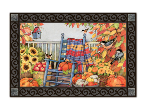 "Autumn Porch MatMates Doormat - 18"" x 30"""