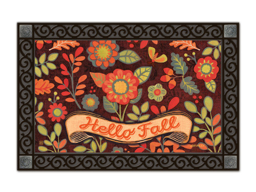 "Hello Fall MatMates Doormat - 18"" x 30"""