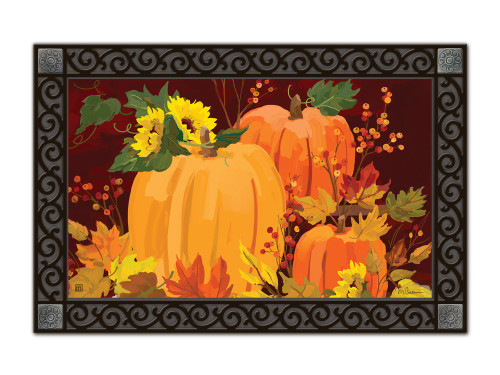 Harvest Pumpkins MatMates Doormat - Tray Sold Separately