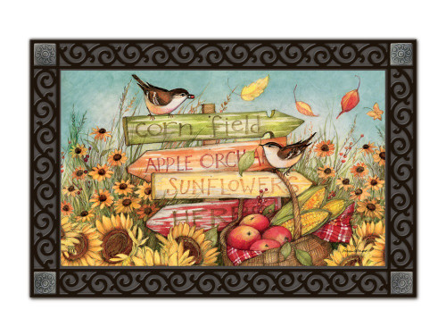 "Signs of Fall MatMates Doormat - 18"" x 30"""