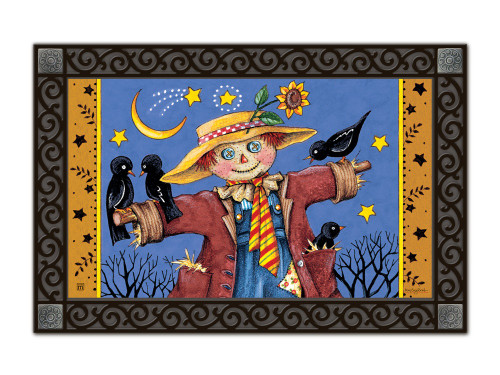 "Moonlight Scarecrow MatMates Doormat - 18"" x 30"""