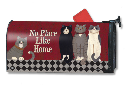 Kitties at Home Magnetic Mailbox Cover