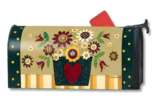 Primitive Posies Magnetic Mailbox Cover