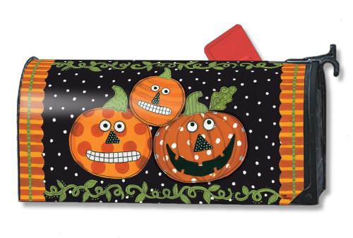 Pumpkin Faces Magnetic Mailbox Cover