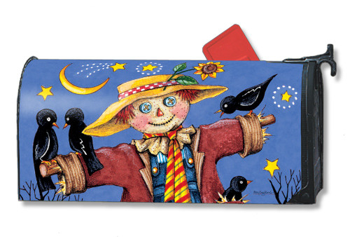 Moonlight Scarecrow Magnetic Mailbox Cover
