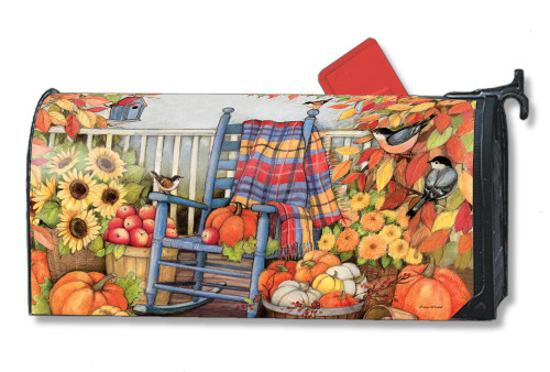 Autumn Porch Magnetic Mailbox Cover