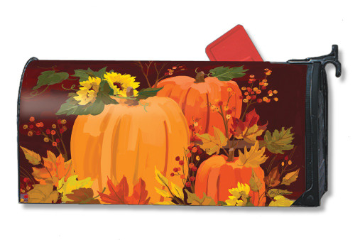 Harvest Pumpkins Magnetic Mailbox Cover