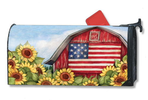 Old Glory Barn Magnetic Mailbox Cover