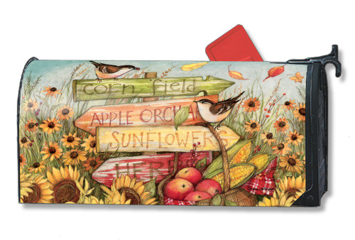 Signs of Fall Magnetic Mailbox Cover