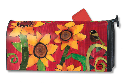 Peace Sunflower Magnetic Mailbox Cover