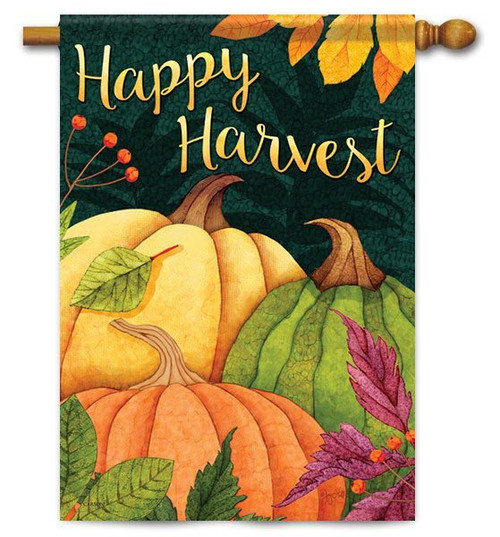 "Pumpkin Patch House Flag - 28"" X 40"" - 2 Sided Message - Flag Trends"