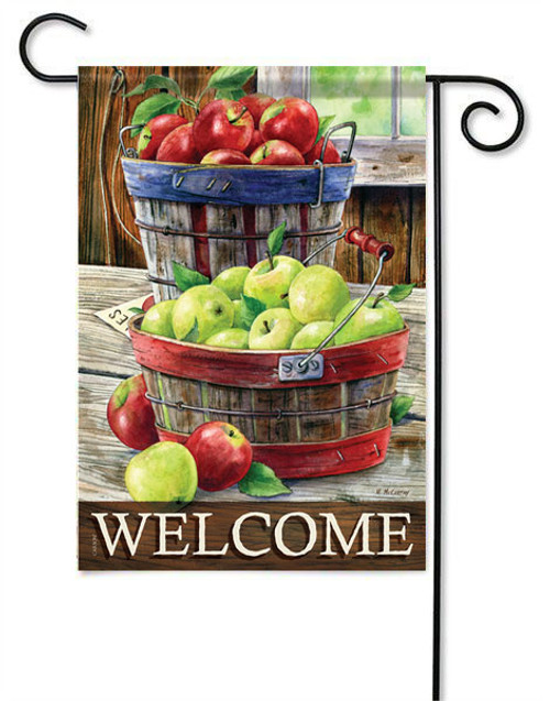 "Apple Harvest Garden Flag - 13 "" x 18"" - 2 Sided Message - Flag Trends"