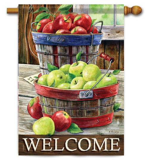 "Apple Harvest House Flag - 28"" X 40"" - 2 Sided Message - Flag Trends"