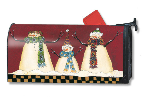 Primitive Snowman Magnetic Mailbox Cover