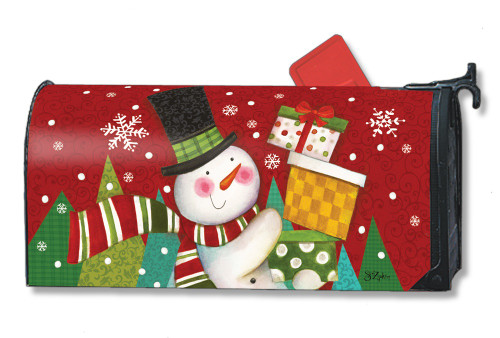 Happy Snowman Magnetic Mailbox Cover