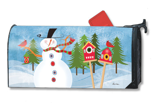 Snowman Whimsy Magnetic Mailbox Cover