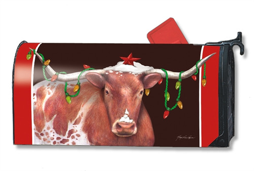 Cowboy Christmas Magnetic Mailbox Cover