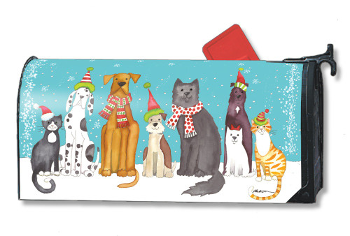 Pet Holiday Magnetic Mailbox Cover