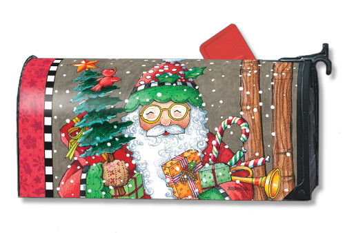 Jolly Santa Magnetic Mailbox Cover