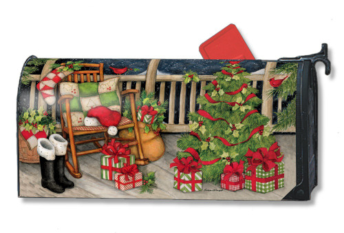 Santa's Porch Magnetic Mailbox Cover