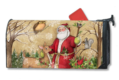 Woodland Santa Magnetic Mailbox Cover