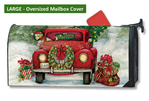 Bringing Home the Tree LARGE Magnetic Mailbox Cover