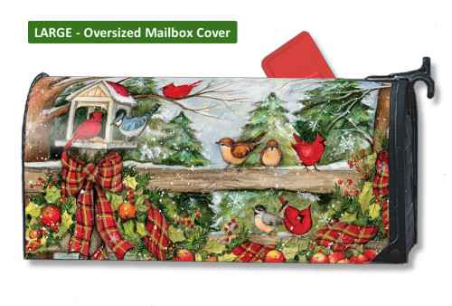 Winter Gathering LARGE Magnetic Mailbox Cover