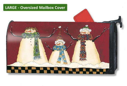 Primitive Snowman LARGE Magnetic Mailbox Cover