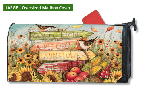 Signs of Fall LARGE Magnetic Mailbox Cover
