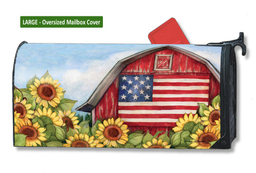 Old Glory Barn LARGE Magnetic Mailbox Cover