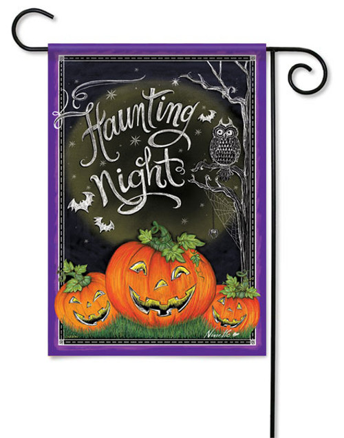 Halloween Garden Flag Haunting Night