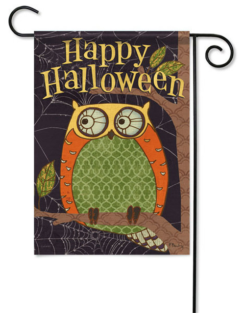 "Halloween Owl Garden Flag - 13 "" x 18"" - 2 Sided Message - Flag Trends"