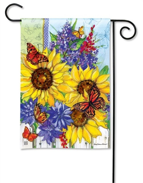 "Butterflies and Blossoms Garden Flag - 12.5"" x 18"" - BreezeArt"