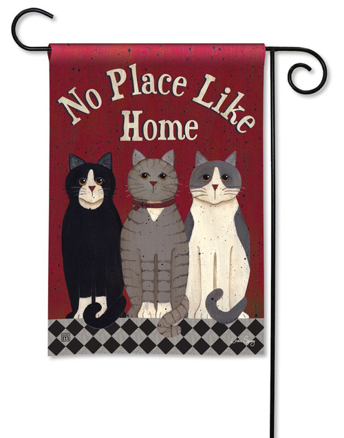 BreezeArt Outdoor Garden Flag Kitties at Home