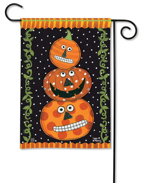 "Pumpkin Faces Garden Flag - 12.5"" x 18"" - BreezeArt"