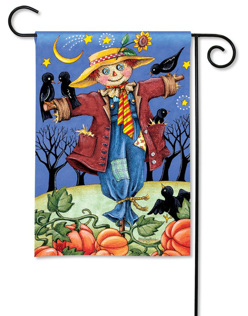 "Moonlight Scarecrow Garden Flag - 12.5"" x 18"" - BreezeArt"