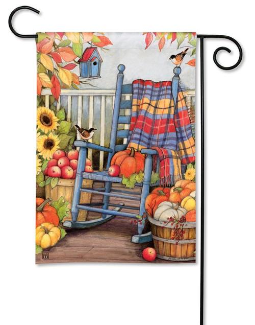"""Autumn Porch Garden Flag - 12.5"""" x 18"""" - BreezeArt"""