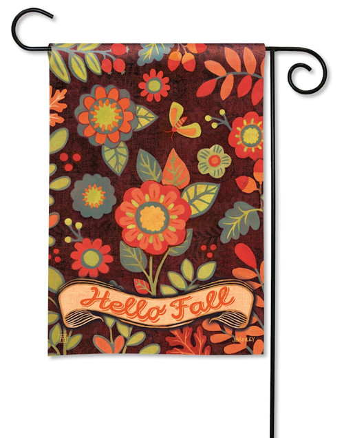"Hello Fall Garden Flag - 12.5"" x 18"" - BreezeArt"