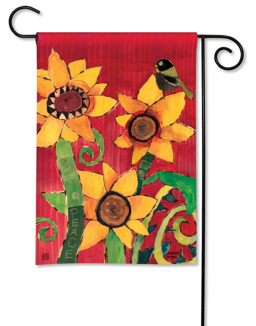 "Peace Sunflower Garden Flag - 12.5"" x 18"" - BreezeArt"