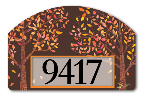 "Thankful Yard DeSign Address Sign - 14"" x 10"""