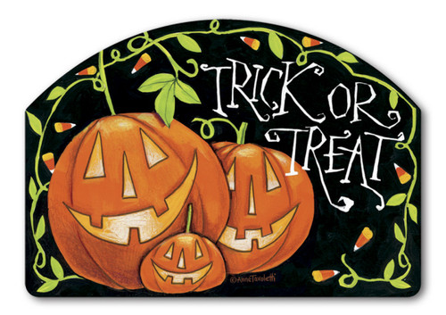 "Halloween Treat Yard Design Yard Sign - 14"" x 10"""