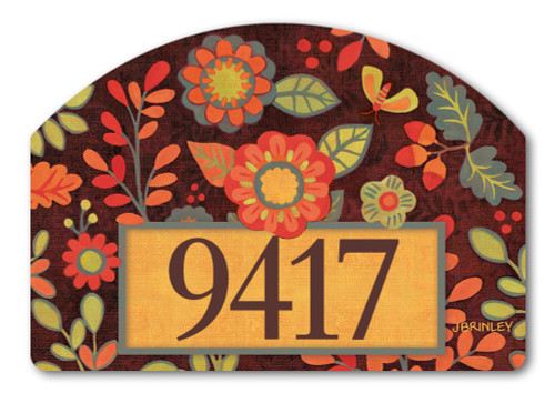 "Hello Fall Yard DeSign Address Sign - 14"" x 10"""