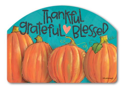 "Grateful Yard DeSign Yard Sign - 14"" x 10"""