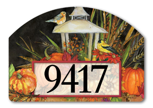 "Lantern Festival Yard DeSign Address Sign - 14"" x 10"""