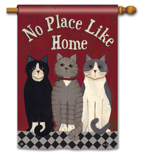 "Kitties at Home House Flag - 28"" x 40"" - BreezeArt"
