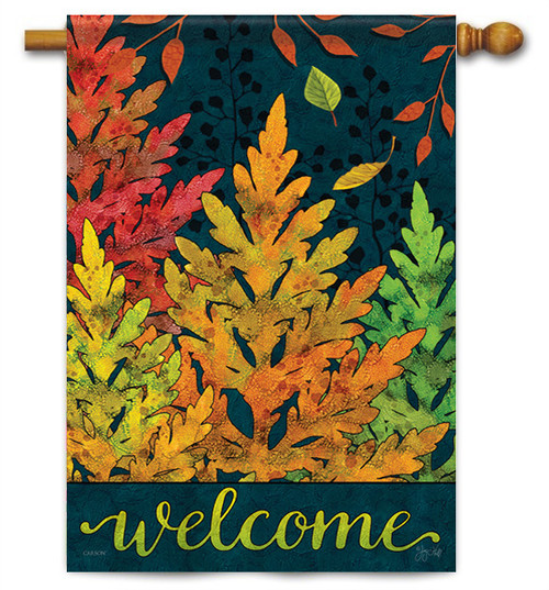 "Autumn Forest House Flag - 28"" X 40"" - 2 Sided Message - Flag Trends"