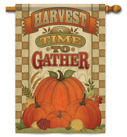 """A Time To Gather House Flag - 28"""" X 40"""" - 2 Sided Message - Flag Trends"""