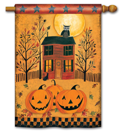 "Halloween Glow House Flag - 28"" x 40"" - BreezeArt"