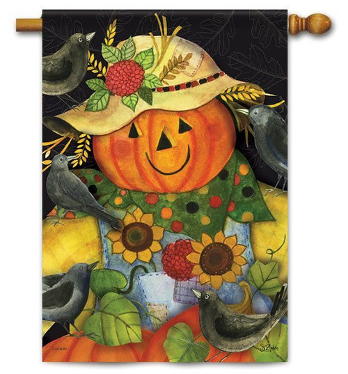 "Scarecrow Friends Flag - 28"" X 40"" - 2 Sided Message - Flag Trends"