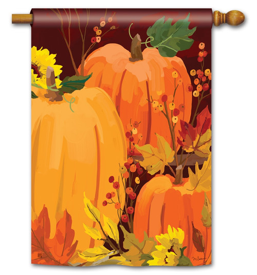 "Harvest Pumpkins House Flag - 28"" x 40"" - BreezeArt"